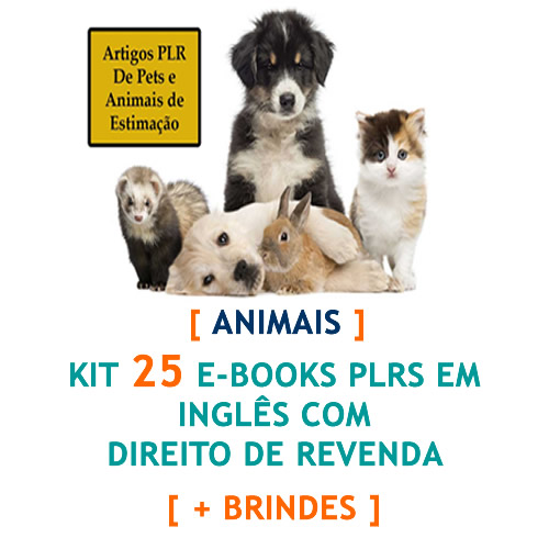 kit 25 ebooks animais