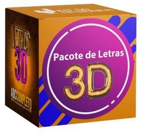 pacote imagens letras 3d