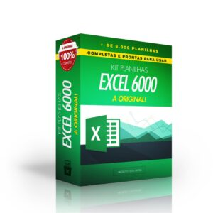 kit 6000 planilhas excel